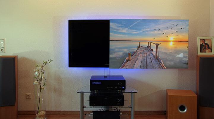 Foto als TV-Abdeckung
